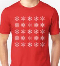 Black Snowflake Pattern   Christmas Unisex T-Shirt