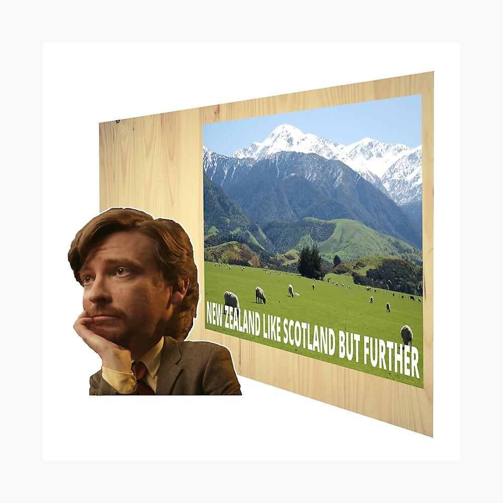 Cartel de Nueva Zelanda Escocia Vuelo Conchords ver.1 Lámina fotográfica