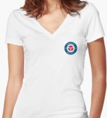smallcarBIGCITY Roundel  Women's Fitted V-Neck T-Shirt