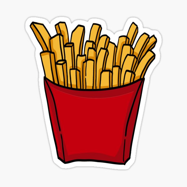 French fries french fries Sticker