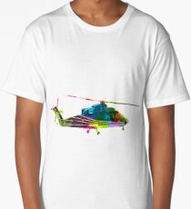 Colorful Helicopter Long T-Shirt