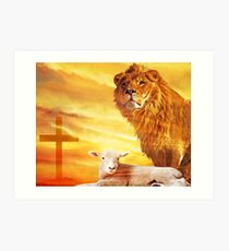 And the Lion Will lay Down With the Lamb... Art Print