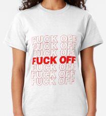 Camiseta clásica F ** k fuera de la bolsa de comestibles