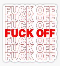 F**k Off Grocery Bag Sticker