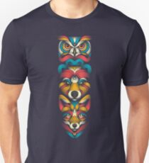 Forest Animals Totem T-Shirt