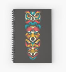 Forest Animals Totem Spiral Notebook