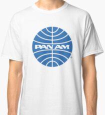 Pan Am Tshirt - Defunct Airline Company Logo - Airline Memorabilia - Retro Company Logo - Retro Tshirt Classic T-Shirt