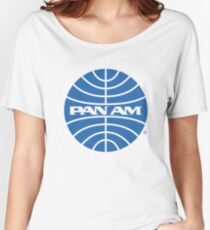 Pan Am Tshirt - Defunct Airline Company Logo - Airline Memorabilia - Retro Company Logo - Retro Tshirt Women's Relaxed Fit T-Shirt