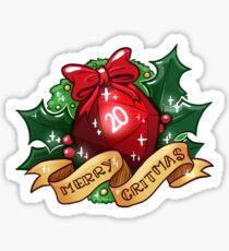 d20 - Merry Critmas Sticker