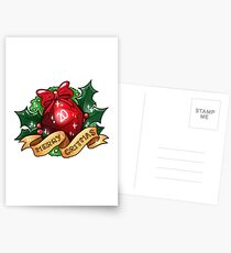d20 - Merry Critmas Postcards