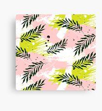Palm contrast texture Canvas Print