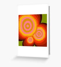 Floral suns  Greeting Card