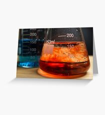Science Beaker Experiment Greeting Card