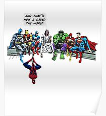 That's How I Saved The World Jesus Superheros Christian T-Shirt Poster