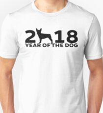 Boston Terrier 2018 Year of the Dog Unisex T-Shirt