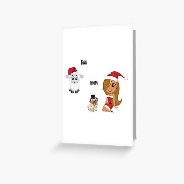Mariah Carey Christmas Greeting Card