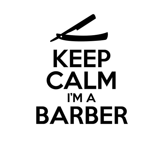 Keep Calm I'm A Barber - Cool Barber Sticker T-Shirt Pillow by TheTeeMachine