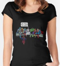 That's How I Saved The World Jesus Superheros Christian T-Shirt Women's Fitted Scoop T-Shirt