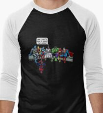 That's How I Saved The World Jesus Superheros Christian T-Shirt Men's Baseball ¾ T-Shirt