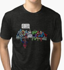 That's How I Saved The World Jesus Superheros Christian T-Shirt Tri-blend T-Shirt