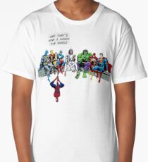 That's How I Saved The World Jesus Superheros Christian T-Shirt Long T-Shirt