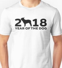 French Bulldog, 2018 Year of the Dog.  Unisex T-Shirt