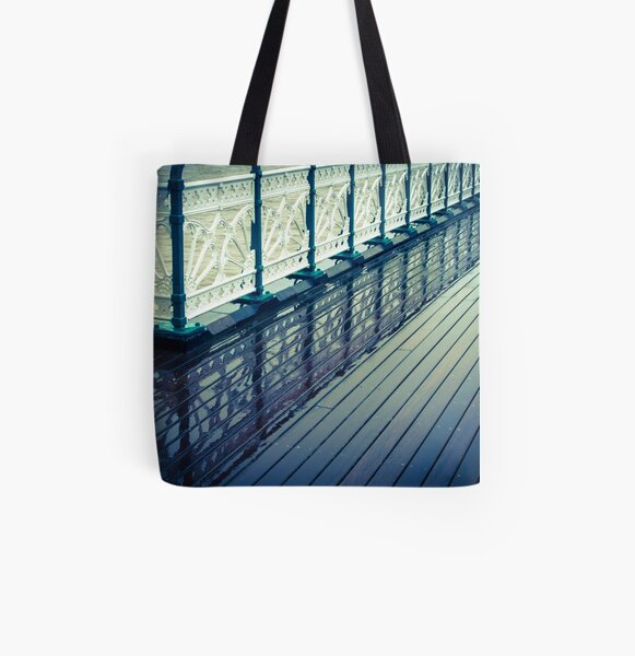 Penarth Pier reflection All Over Print Tote Bag