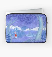 little mouse in a mysterious blue forest Laptop Sleeve