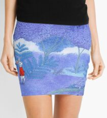 little mouse in a mysterious blue forest Mini Skirt