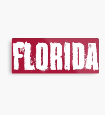 Florida Explosive Typography Metal Print
