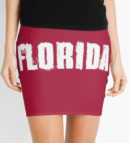 Florida Explosive Typography Mini Skirt