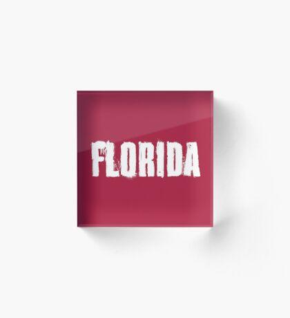 Florida Explosive Typography Acrylic Block