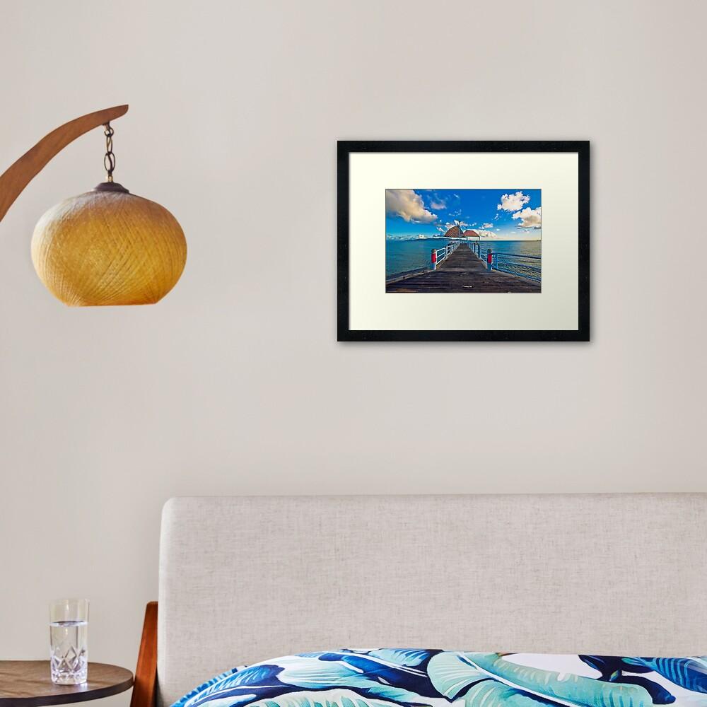The Strand Jetty Townsville.  Framed Art Print