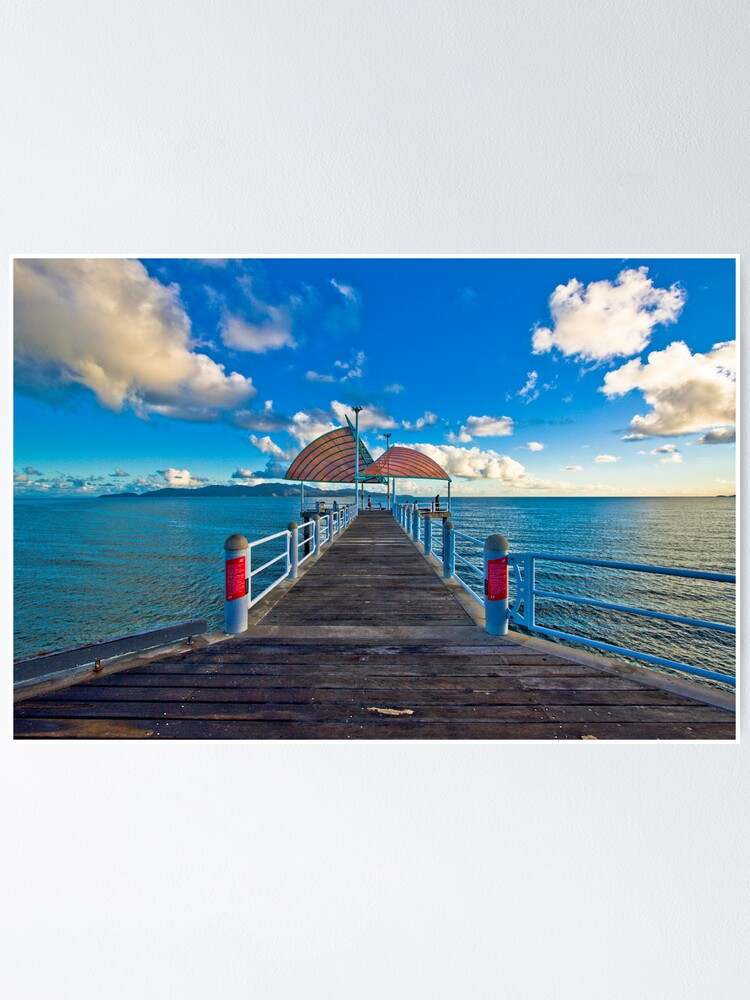 Alternate view of The Strand Jetty Townsville.  Poster
