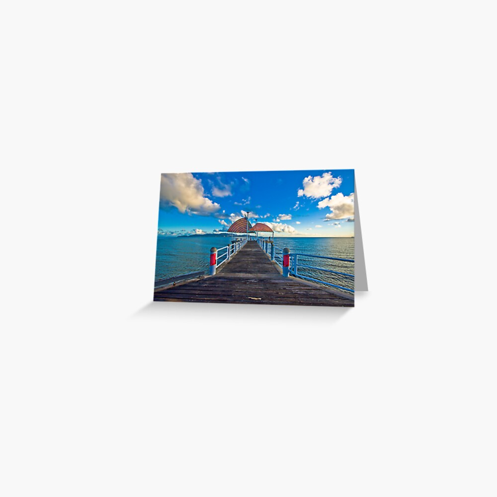 The Strand Jetty Townsville.  Greeting Card