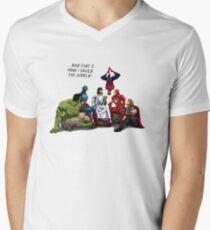 Jesus Superheros Christian T-Shirt  Men's V-Neck T-Shirt