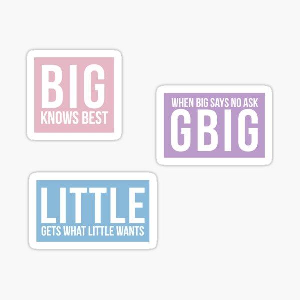 Little, Big & GBig Sticker