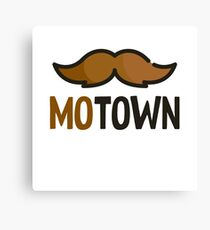MoTown Mustache - Funny Beard Mustache Sticker T-Shirt Pillow Canvas Print
