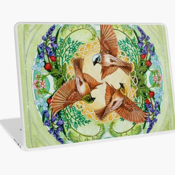 Botanical Celtic Birds - Rhiannon's Birds Laptop Skin