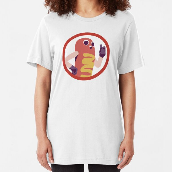 Girls T-Shirt Junk Food Hot Dog Pig In Hot Dog Roll With Mustard Kids Boys