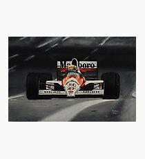 Ayrton Senna. Mclaren MP4/5B Photographic Print