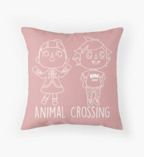 Animal Crossing Villagers Outline Throw Pillow