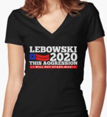 Lebowski 2020 Women's Fitted V-Neck T-Shirt