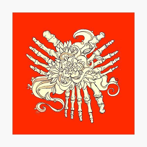 """""""Petals"""" Foot Bones and Flora Illustration Photographic Print"""