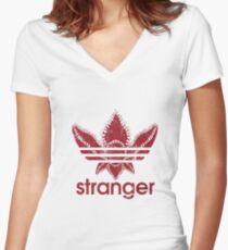 Stranger Things Tshirt Women's Fitted V-Neck T-Shirt