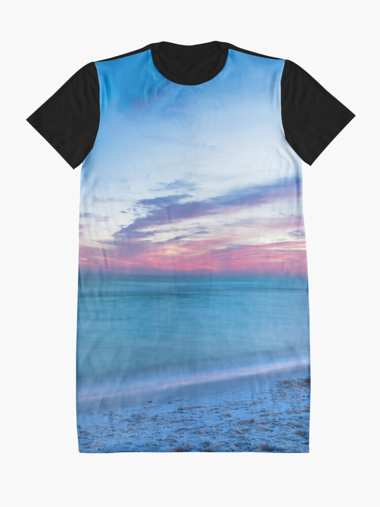 Alternate view of If By Sea - Sunset on the Beach Near Destin Florida Graphic T-Shirt Dress