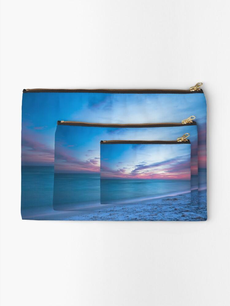 Alternative Ansicht von Wenn durch Meer - Sonnenuntergang am Strand in der Nähe von Destin Florida Täschchen