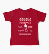 *NEW AND IMPROVED* Festivus For The Rest of Us Ugly Holiday Sweater Baby Tee