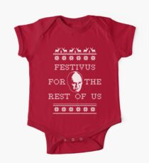 *NEW AND IMPROVED* Festivus For The Rest of Us Ugly Holiday Sweater One Piece - Short Sleeve