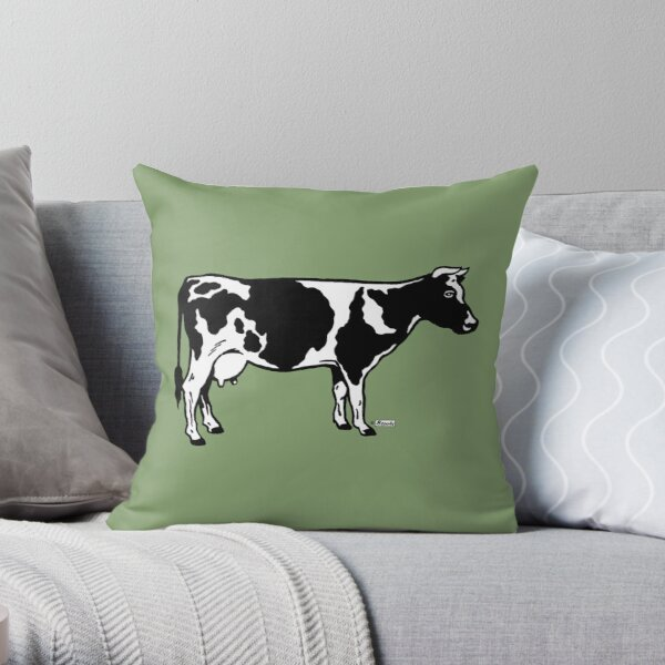 Let's Hear It for Cows! Throw Pillow
